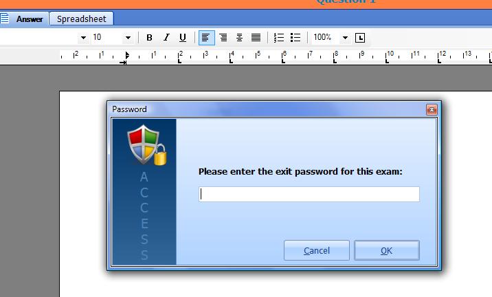 exit password