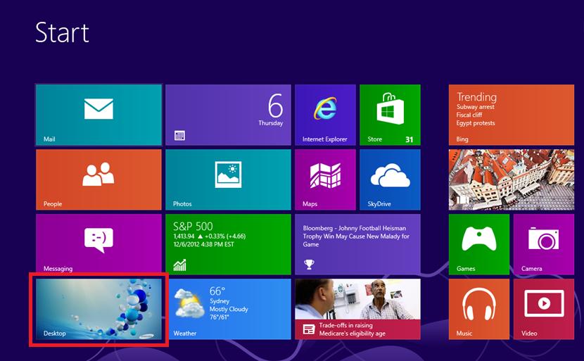 Win8Desktop Tile