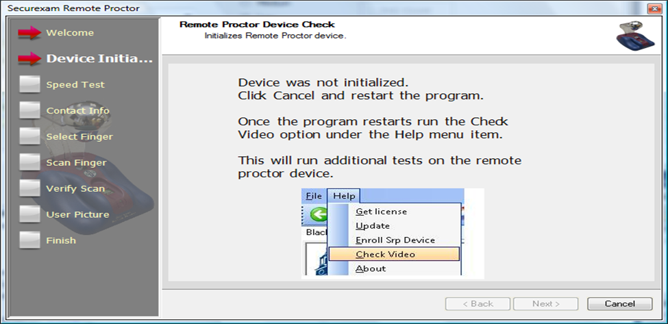 Device was not initialized
